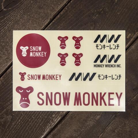 MONKEY WRENCH × Snow Monkey ステッカーセット